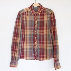 70's Vintage Plaid Button-Up by rrrruss